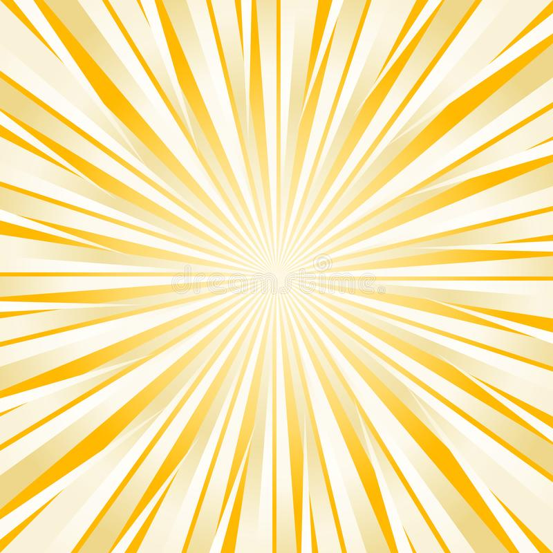 Abstract hard bright Yellow White rays background. Vector stock illustration