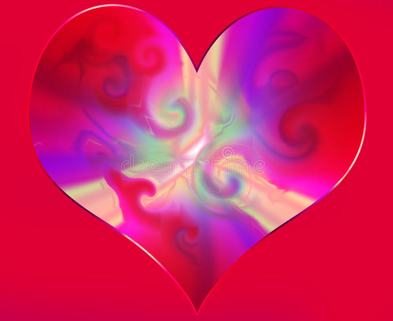 Abstract hart royalty-vrije stock fotografie