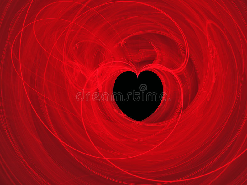 Abstract hart als achtergrond stock illustratie