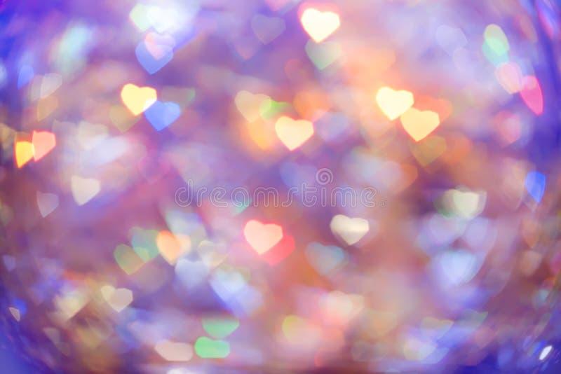 Abstract hart als achtergrond bokeh stock afbeelding