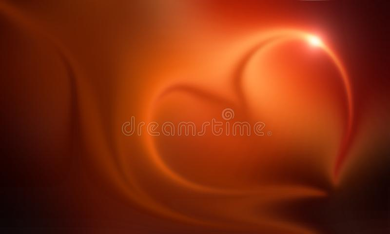 Abstract hart light,blur and glowing effect background,wallpaper. royalty free illustration