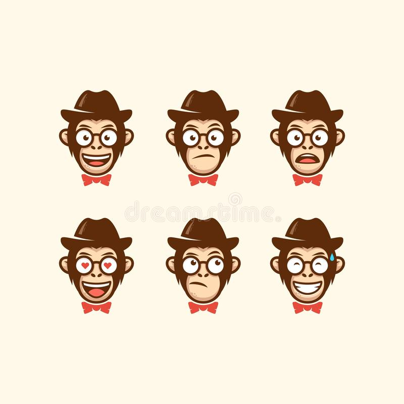 Abstract Head cowboy illustration vector template royalty free illustration