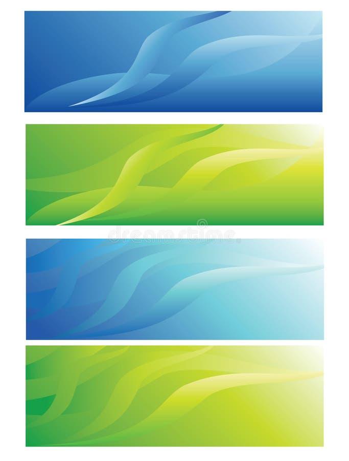 Abstract header background stock illustration