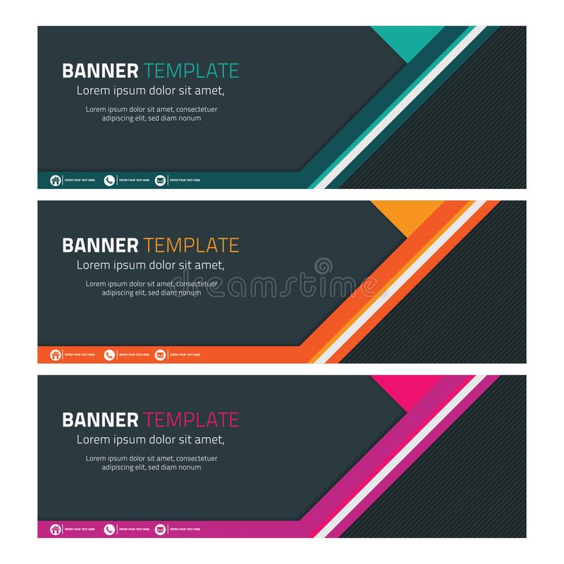 Abstract Header or Banner with Geometric Shape 3 royalty free illustration