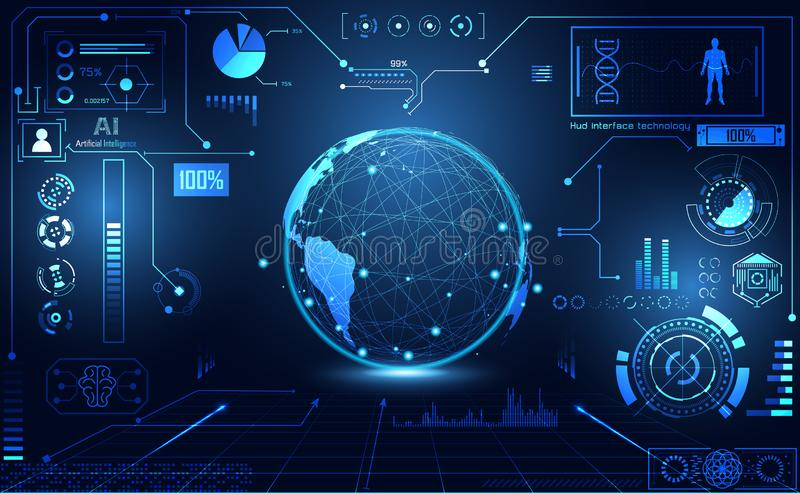 Abstract health medical world ui futuristic hud interface hologram science healthcare icon digital technology science concept mod vector illustration