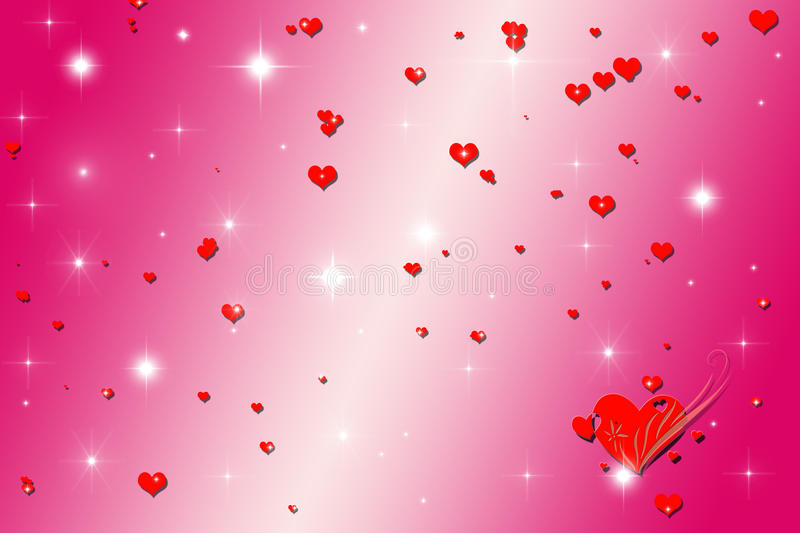 Abstract heart background. This is an abstract heart background stock illustration