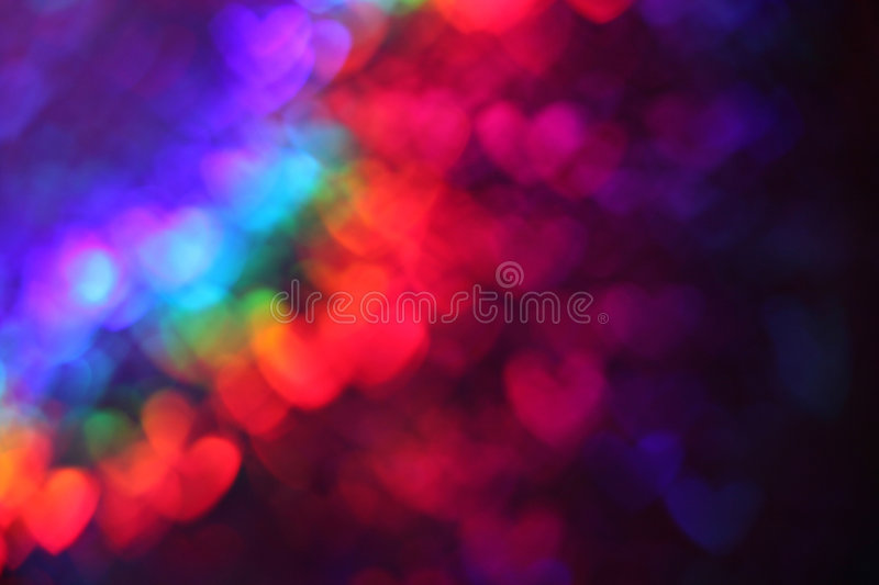 Abstract heart background. In rainbow colors stock photography