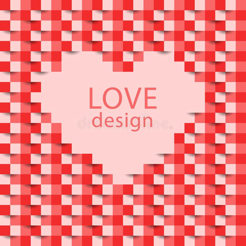 Abstract Heart Background. Heart icon, love symbol. Valentine. Heart of love. Vector illustration stock images
