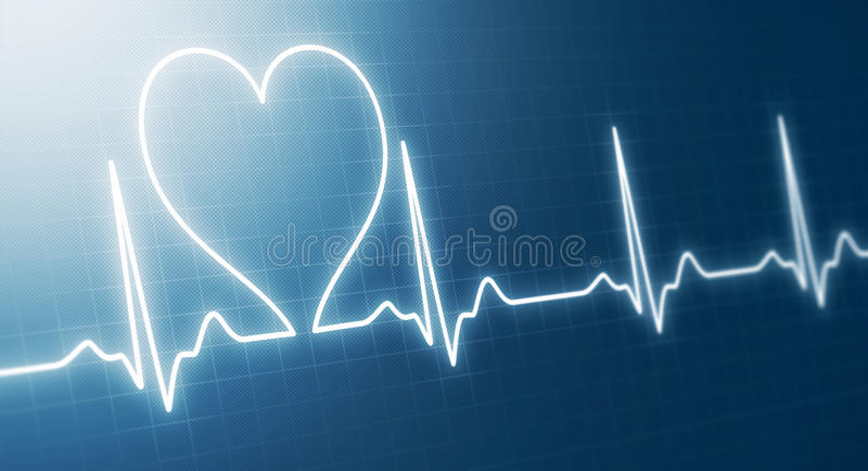 Abstract heart beats stock illustration