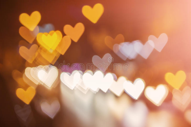 Abstract heart bokeh background. Love Valentine's day background stock photography
