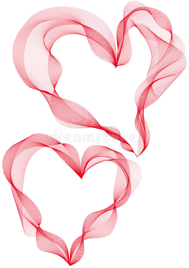 Abstract heart designs, vector royalty free illustration