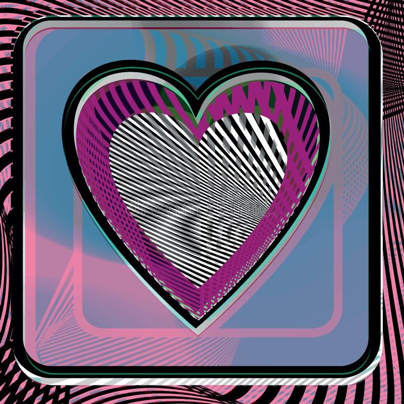 Abstract Heart illustration stock illustration