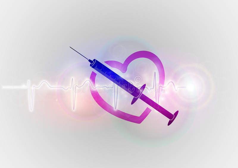 Abstract Heart With Injection Stock Photo