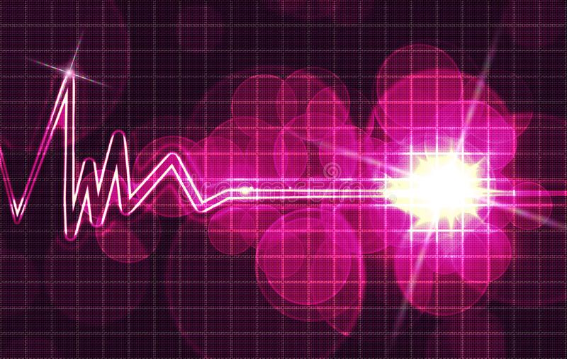 Heart monitor. Abstract heart monitor on a dark blue background vector illustration