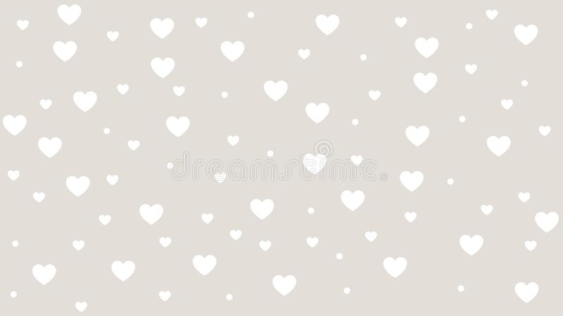 Abstract Heart pattern with Soft gradient pastel background in sweet color concept for wedding card design or presentation vector illustration