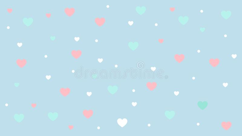 Abstract Heart pattern with Soft gradient pastel background in sweet color concept for wedding card design or presentation royalty free illustration