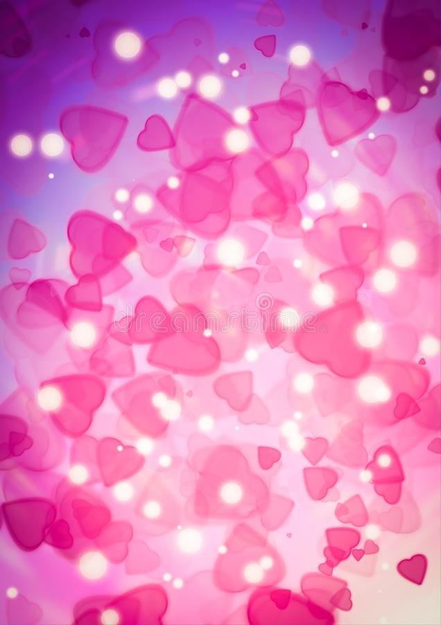 Download Abstract Heart Pink Color Bokeh Wallpaper Stock Photo