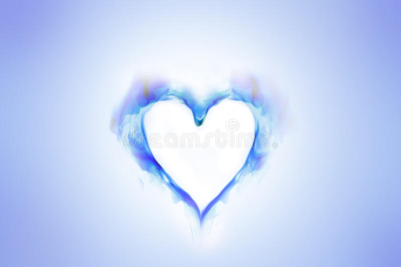 Abstract heart. Abstract representation of a heart colored smoke stock images