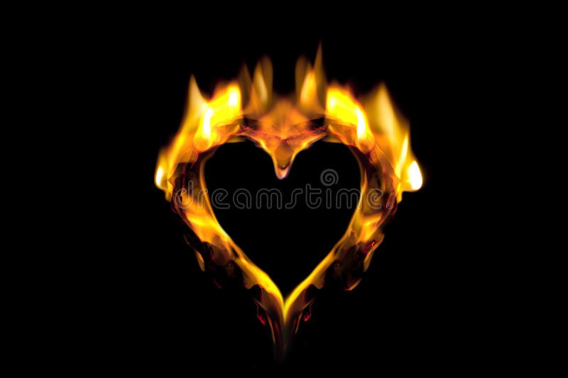 Abstract heart. Abstract representation of a flaming heart stock photography