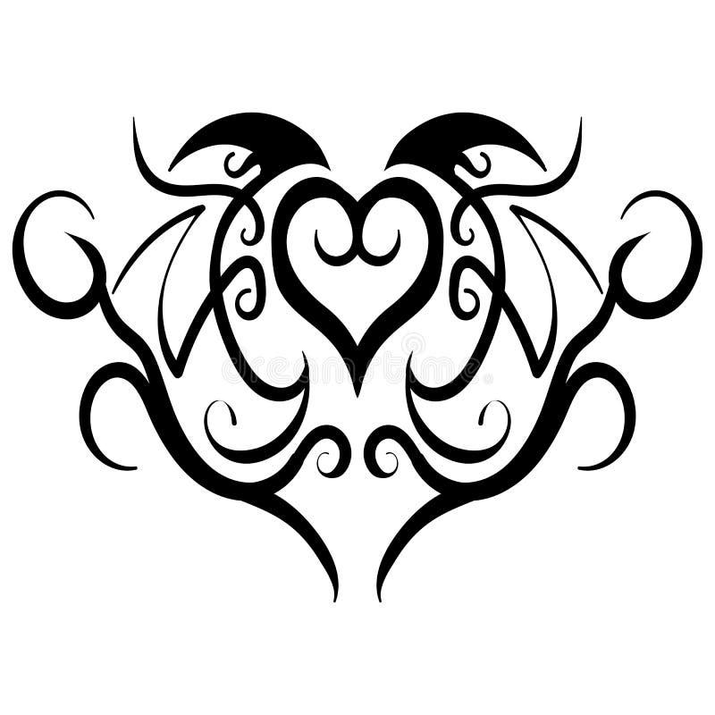 abstract heart tribal tattoo design vector stock vector illustration of background line. Black Bedroom Furniture Sets. Home Design Ideas