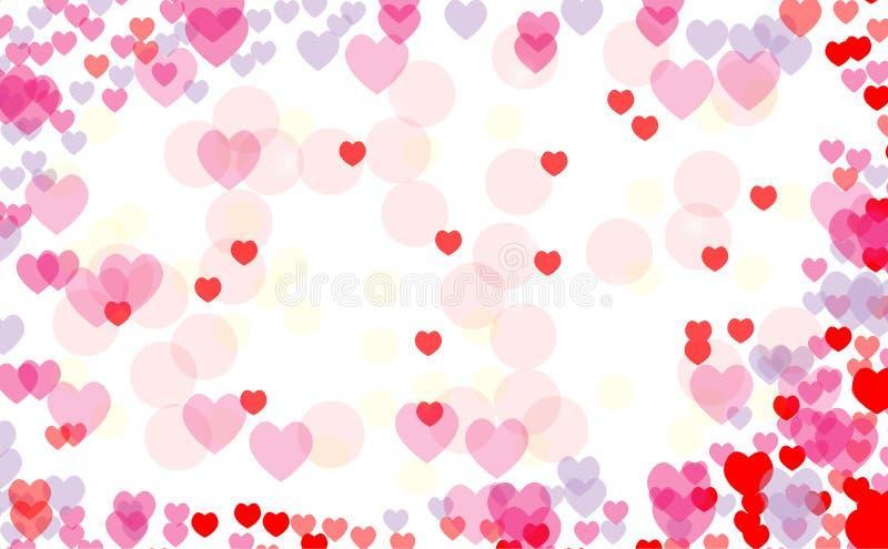 Abstract heart valentine background Festive defocused stock illustration