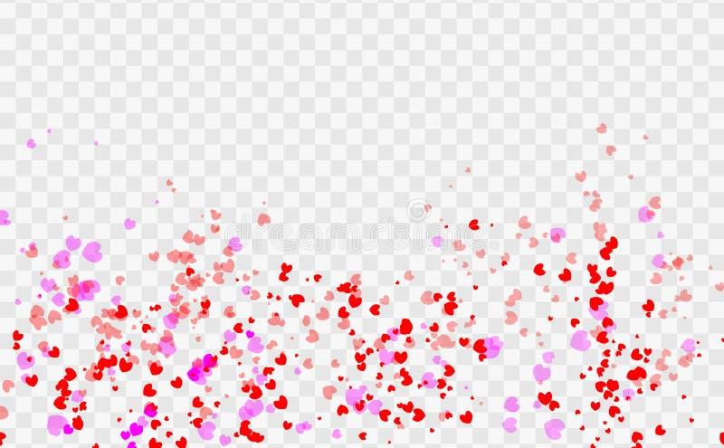 Abstract heart valentine background Festive defocused vector illustration