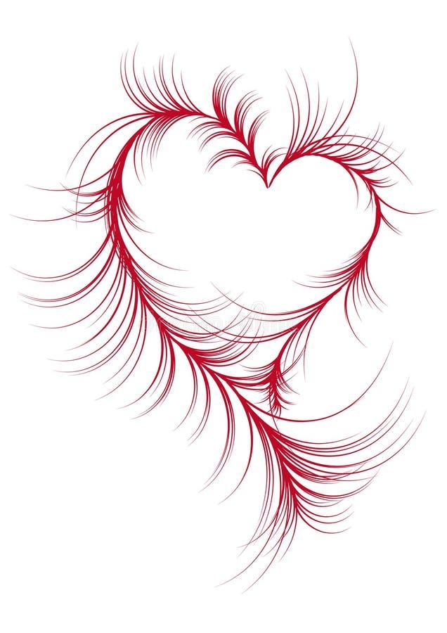 Abstract heart, vector vector illustration