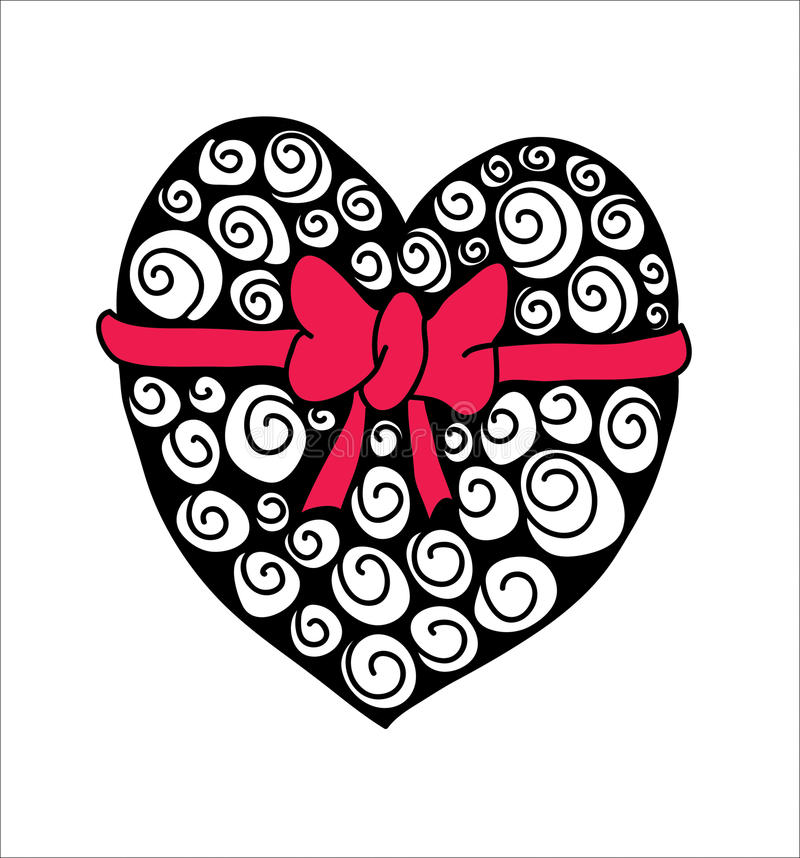 Heart Art Zentangles Meditation Art Black and by ... |Zentangle Heart Graphics