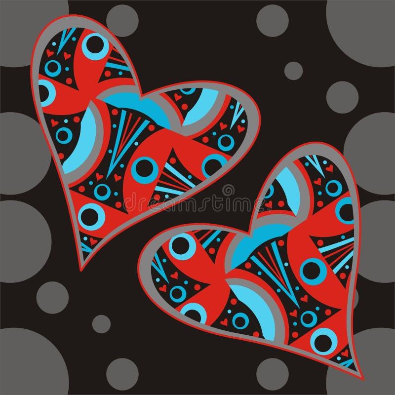 Abstract hearts stock illustration