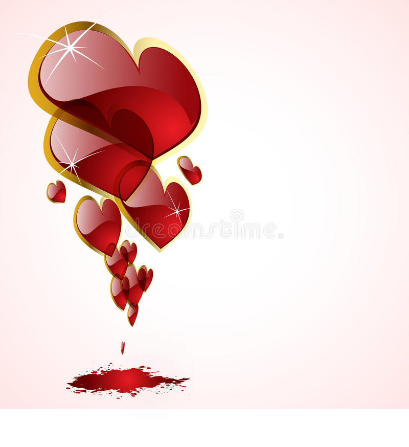 The abstract hearts background vector illustration