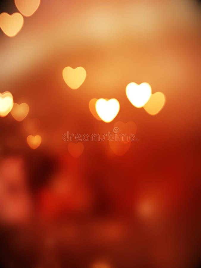 Abstract hearts bokeh lights royalty free stock photos