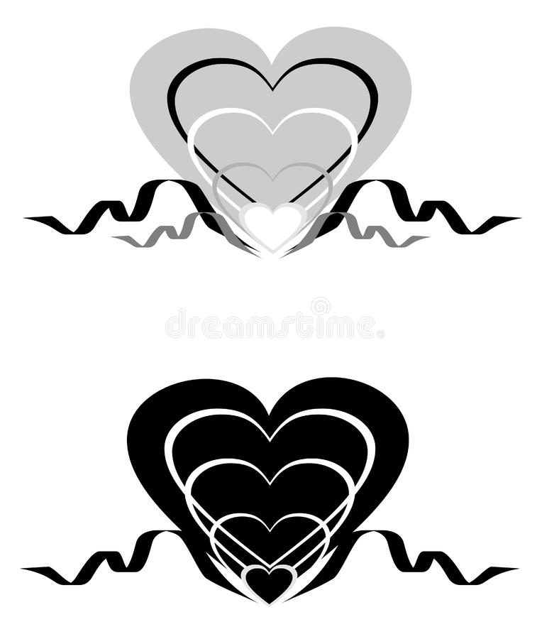 Download Abstract Hearts With An Ornament. Stock Illustration - Illustration of color, romance: 8111999