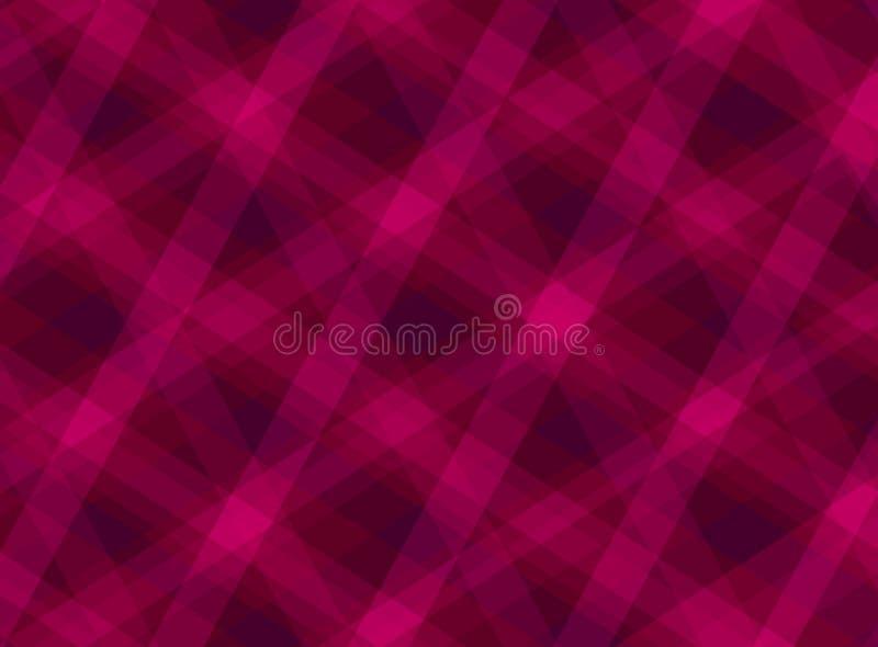 Abstract heet neon roze patroon als achtergrond met diagonale lijnenvormen en strepen stock illustratie