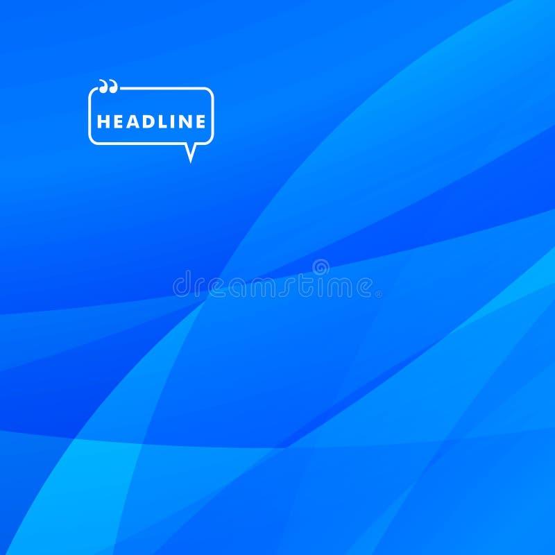 Abstract helder beeld van blauwe kleurendeeltjes vector illustratie