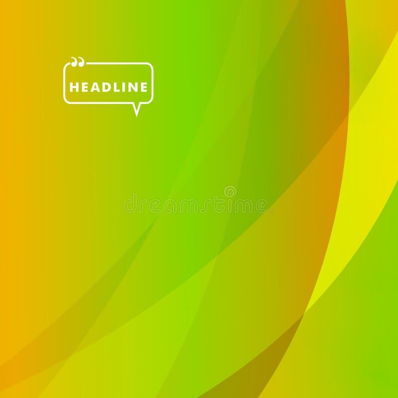 Abstract helder beeld van groene gekleurde deeltjes vector illustratie