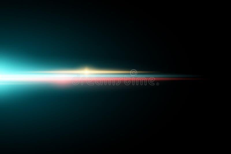 Abstract helder lichteffect voor een donkere achtergrond Multicolored gloed Kleurrijke flits Lengte voor uw project Vector illust royalty-vrije illustratie