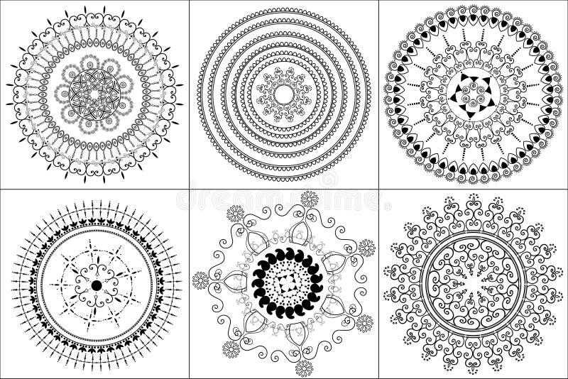 Abstract henna blocks background royalty free illustration