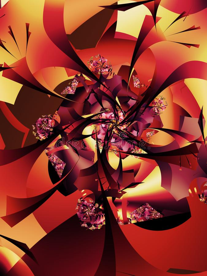 Abstract Herfstboompatroon stock illustratie