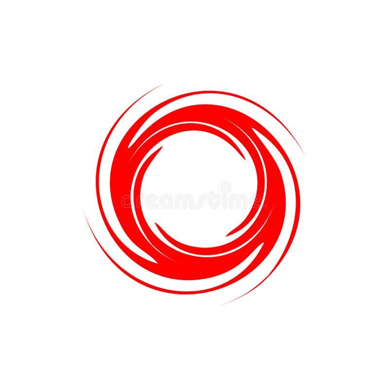 Abstract het embleemmalplaatje van de cirkeldraai vector illustratie