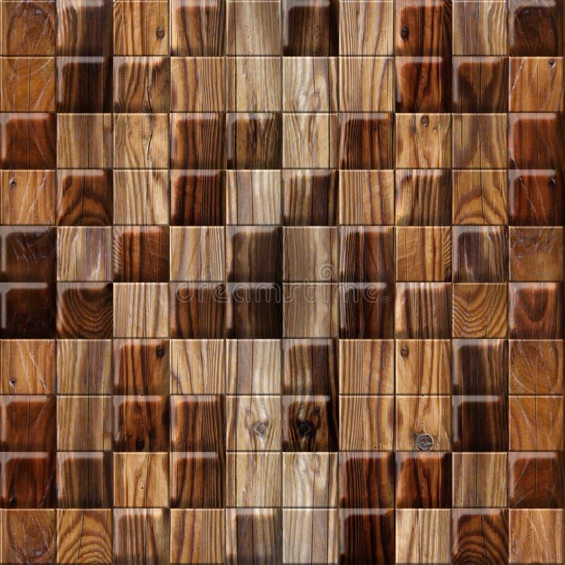 Abstract het met panelen bekleden patroon - naadloze achtergrond - cassettevloer - houten textuur royalty-vrije illustratie