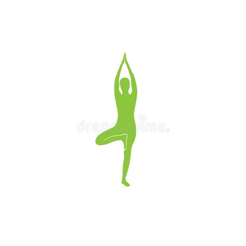 Abstract het ontwerp vectormalplaatje van het yogaembleem Health Spa het concept van Meditatieharmony logotype Yoga Logo Icon Des stock illustratie