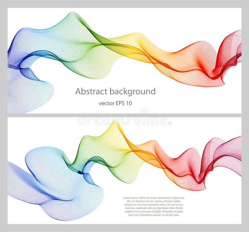 Abstract het ontwerpelement van de kleurengolf royalty-vrije illustratie