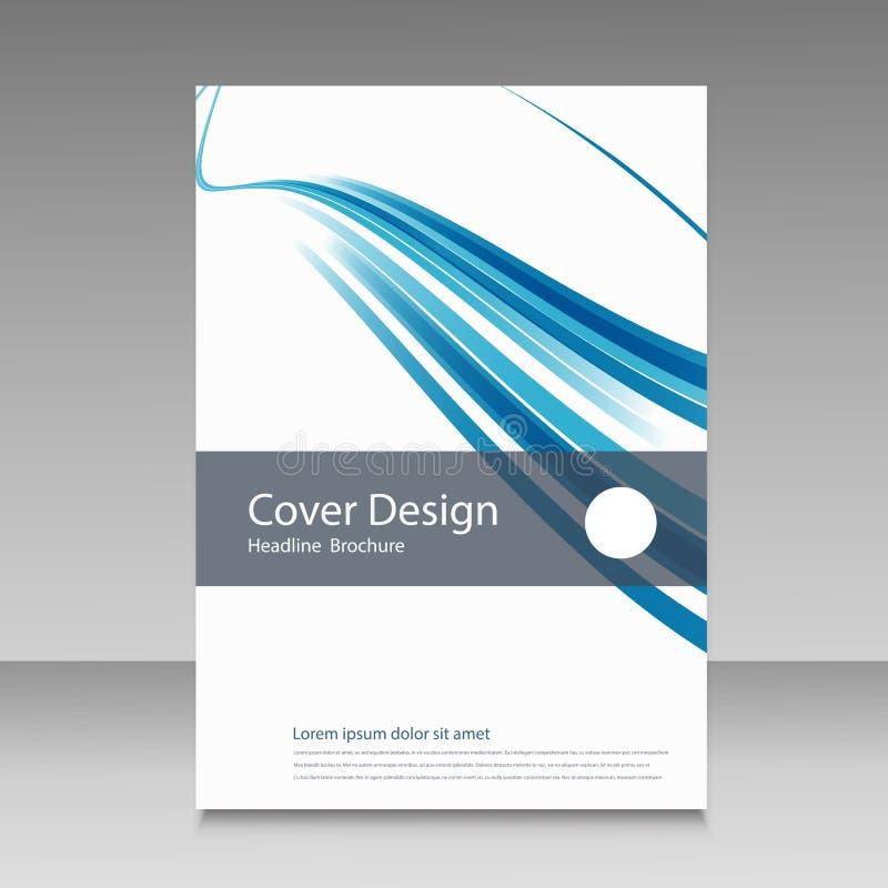 Abstract het ontwerpmalplaatje van de lijnbrochure vector illustratie