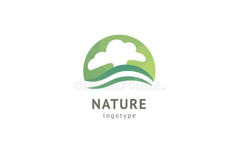 Abstract het pictogram vectorontwerp van het aardembleem Gezond ecovoedsel, ecologie, kuuroord, zaken, dieet, yoga, de vector van vector illustratie