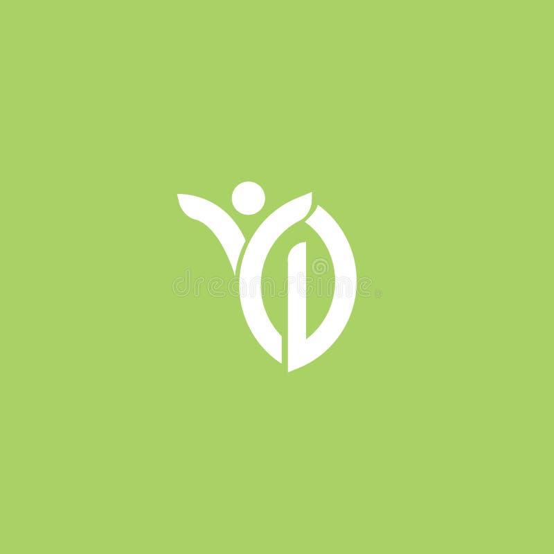 Abstract het pictogram vectorontwerp van het aardembleem gezond voedsel, ecologie, kuuroord, zaken, dieet vectorembleem royalty-vrije illustratie