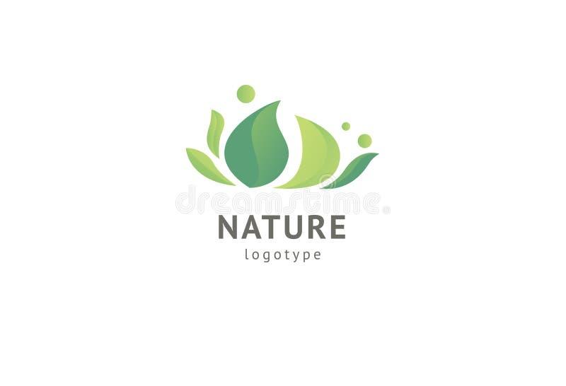 Abstract het pictogramontwerp van het aardembleem Gezond ecovoedsel, ecologie, kuuroord, zaken, dieet, yoga, het embleem van de M vector illustratie