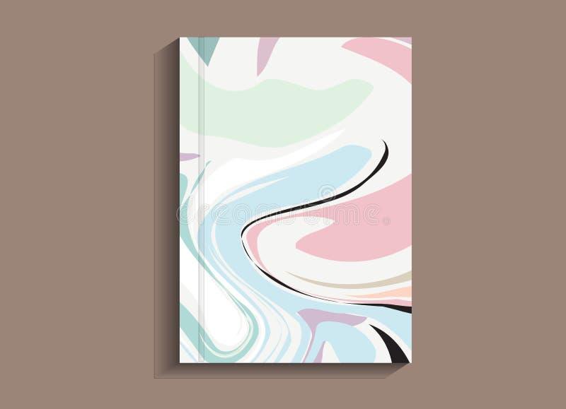 Abstract het schilderen malplaatje voor boek, brochure, vlieger, affiche, boekje, pamflet royalty-vrije illustratie