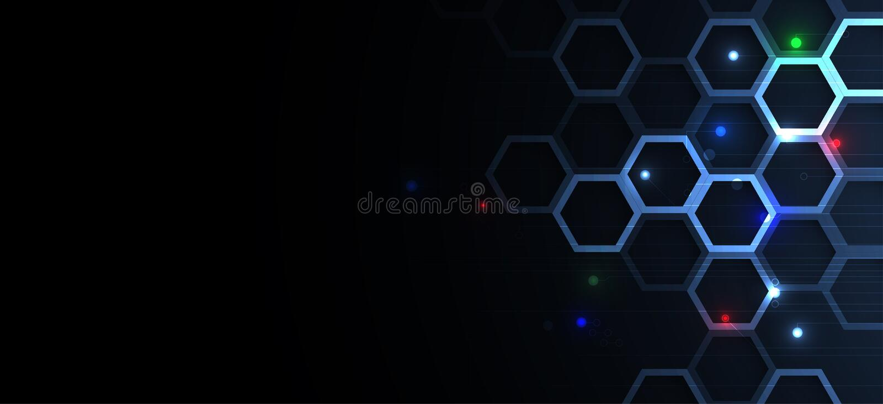Abstract hexagon background. Technology poligonal design. Digital futuristic minimalism royalty free illustration