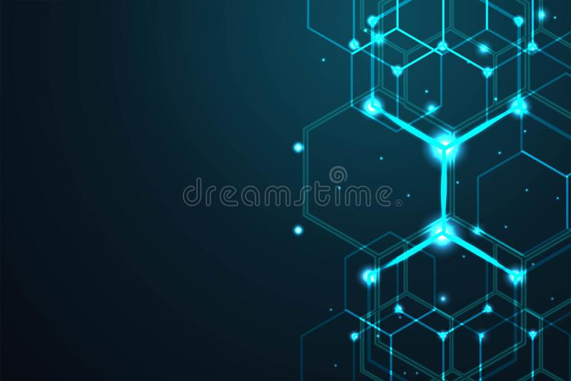 Abstract hexagon background , Technology polygonal concept, vector illustration. Abstract hexagon background , Technology polygonal concept, vector illustration stock illustration