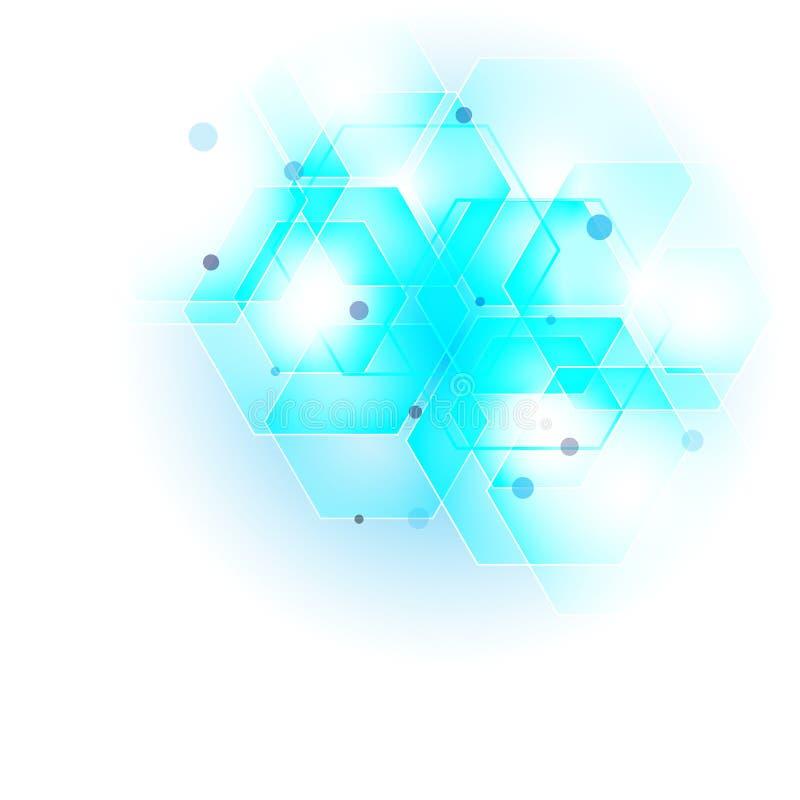 Abstract hexagon background. Technology polygonal design. Digital futuristic minimalism. Vector stock illustration